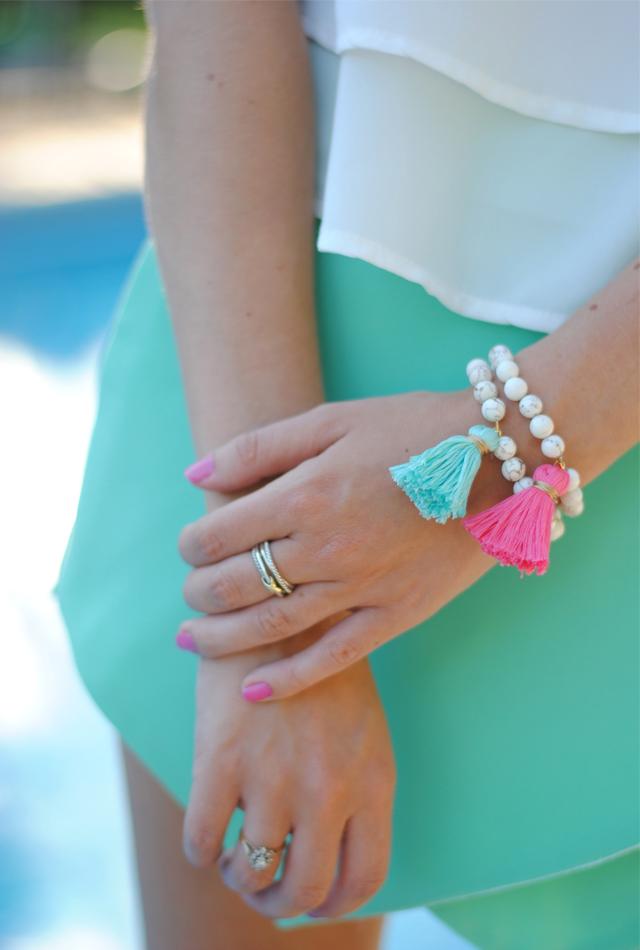 DIY beaded tassel bracelets by Southern Curls & Pearls