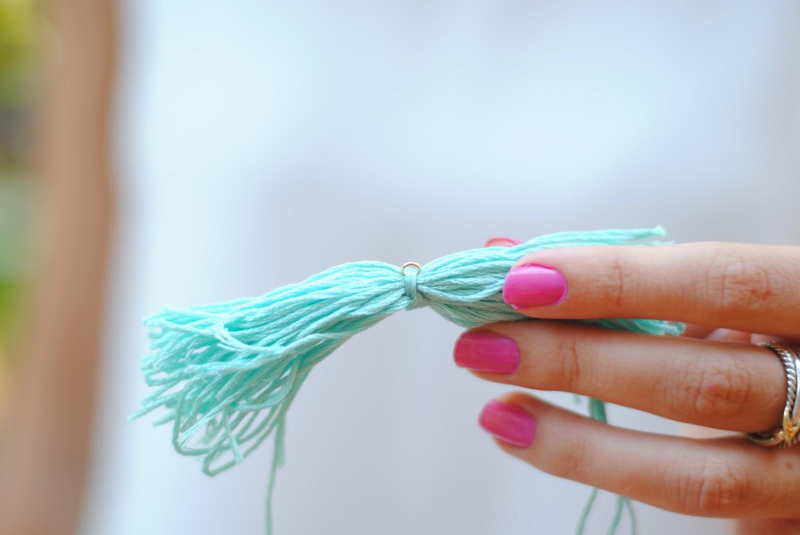 How to make your own beaded tassel bracelet