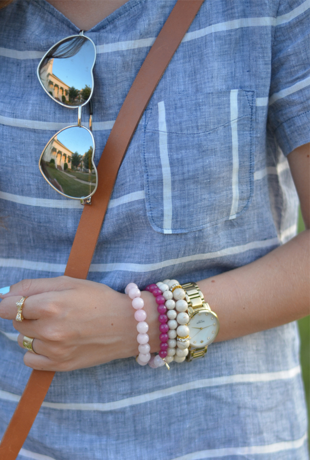Heart sunnies + cool jewelry