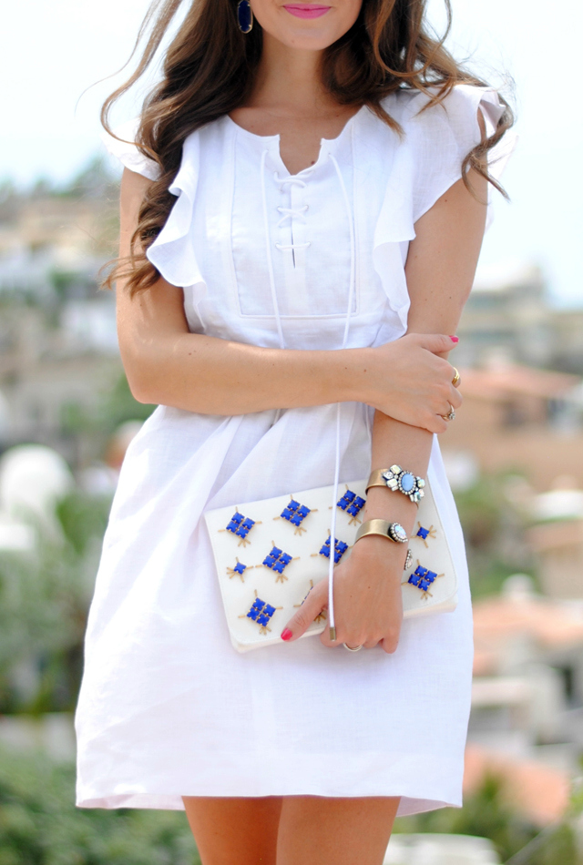 Love this white linen dress!
