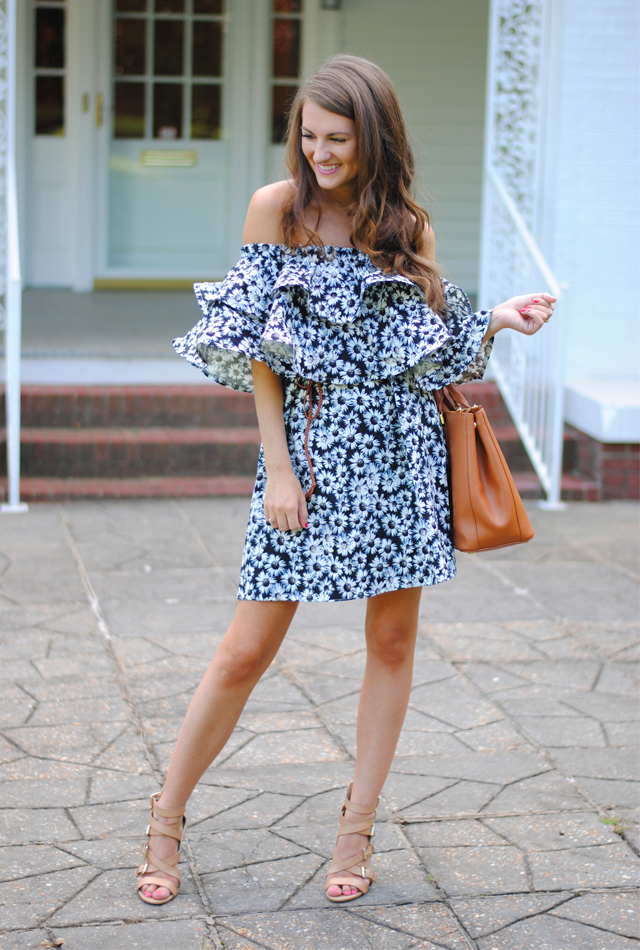This daisy dress is perfect to transition into fall