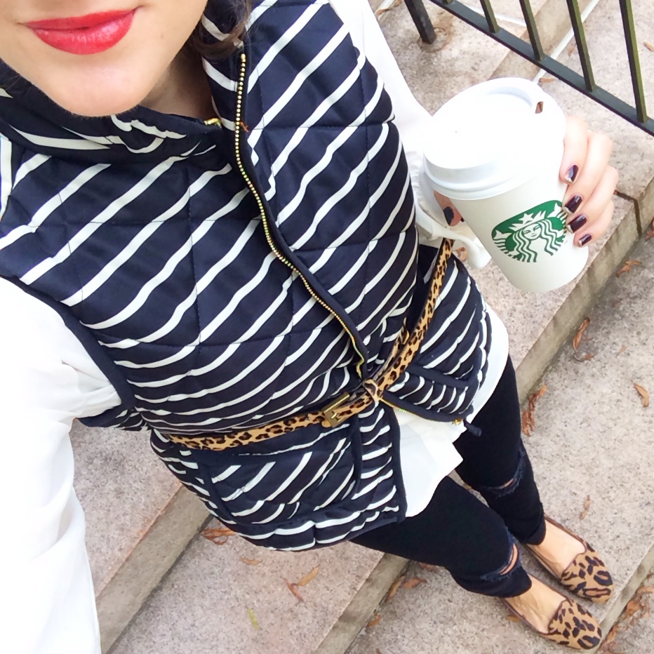 Cute way to style a puffer vest