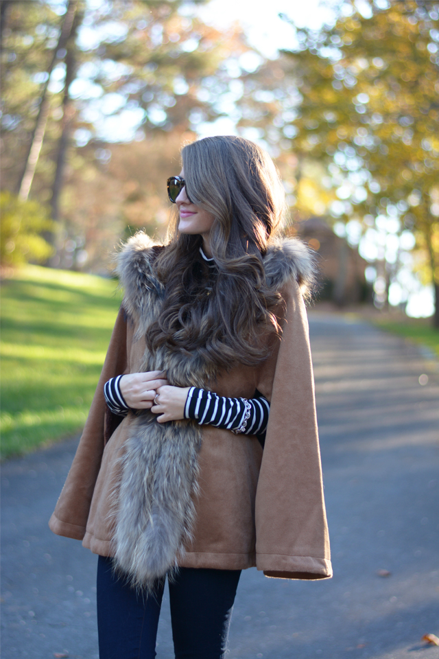 Love this hooded cape!