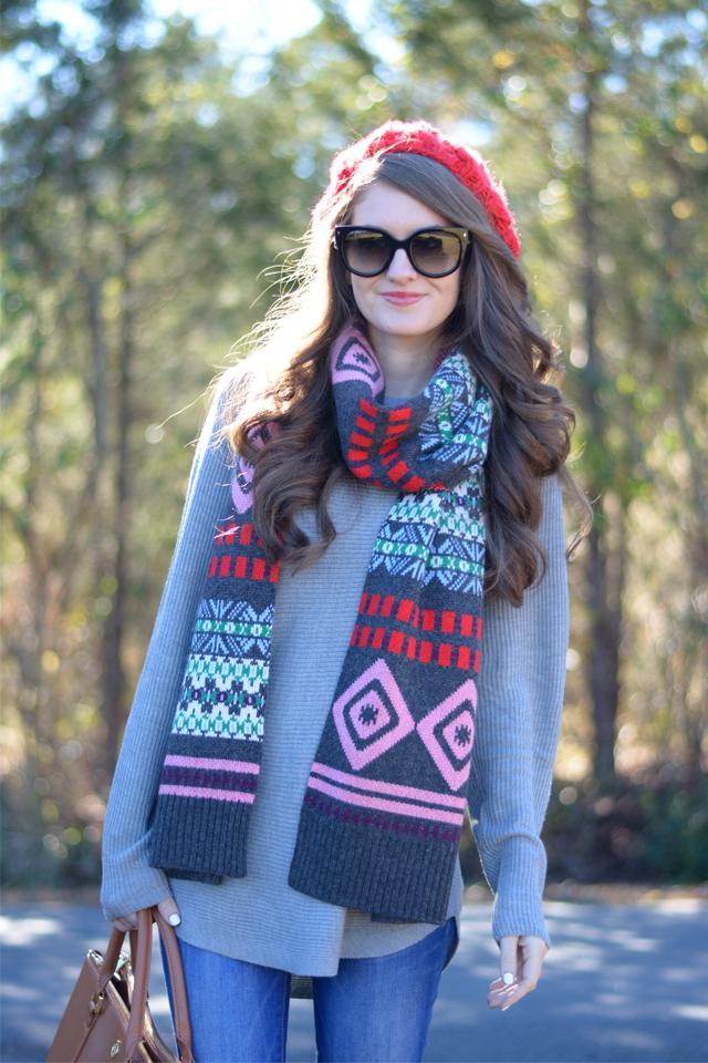 That fair isle scarf… love!