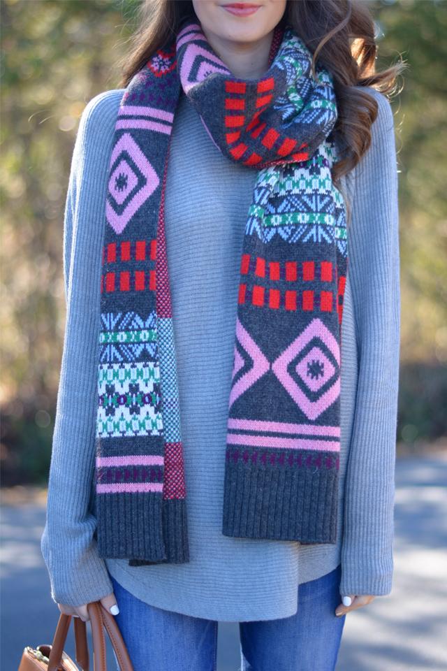 Love the fair isle scarf
