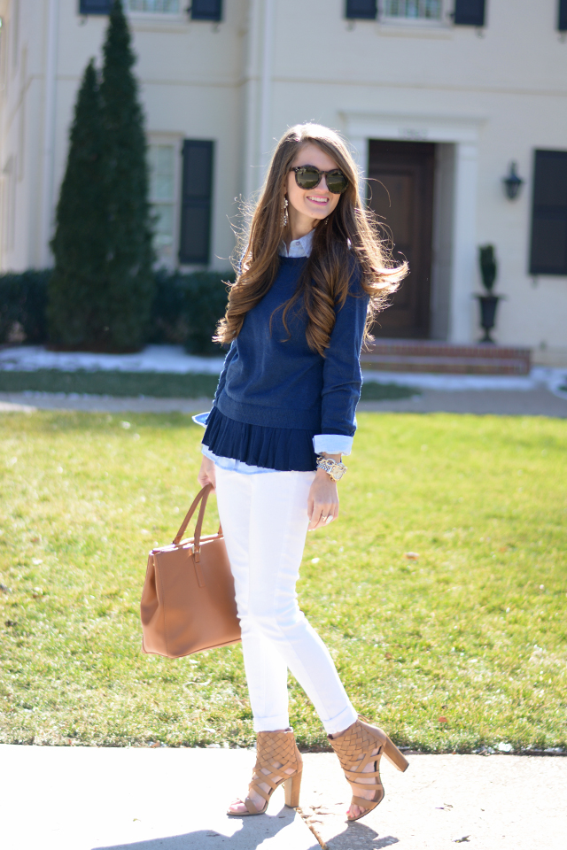 Cute preppy outfit for spring!