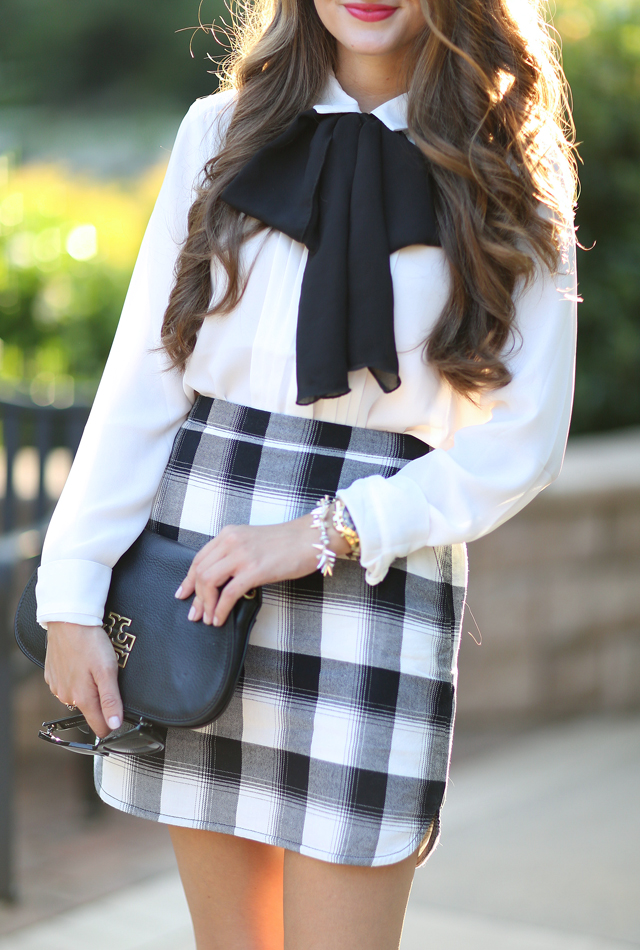 Tie on a bow for an easy way to transform an outfit