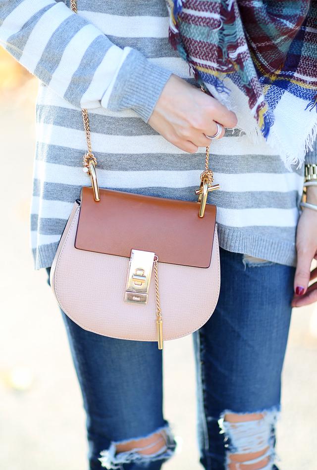 Chloe two-tone handbag