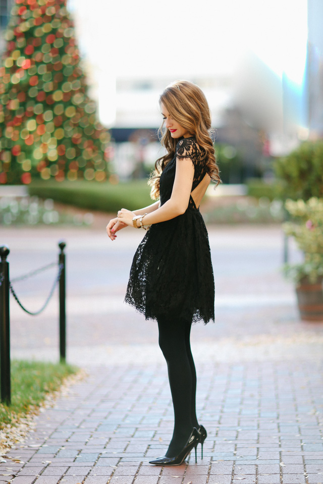 Little Black Party Dress Southern Curls Pearls