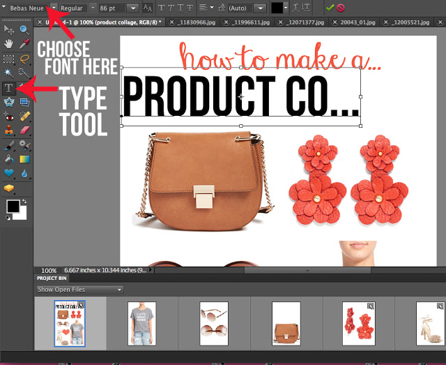 How to make a product collage in Photoshop Elements
