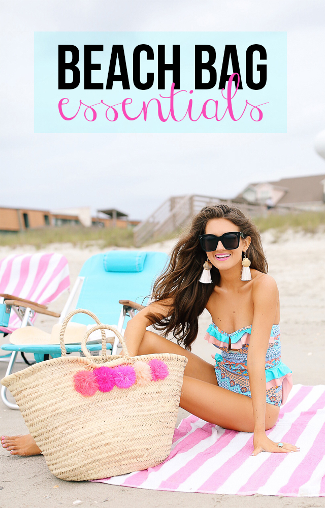 Southern Curls and Pearls beach bag essentials
