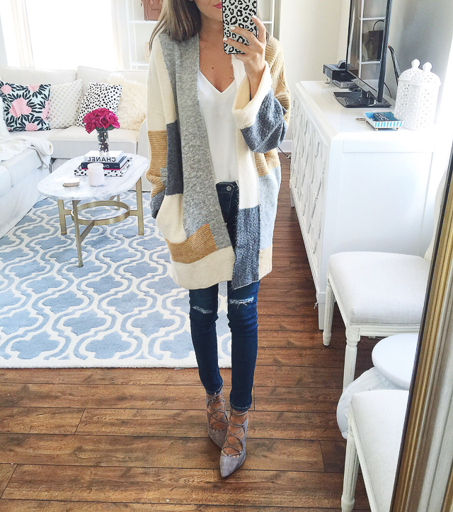 Topshop patchwork cardigan from the Nordstrom Anniversary Sale