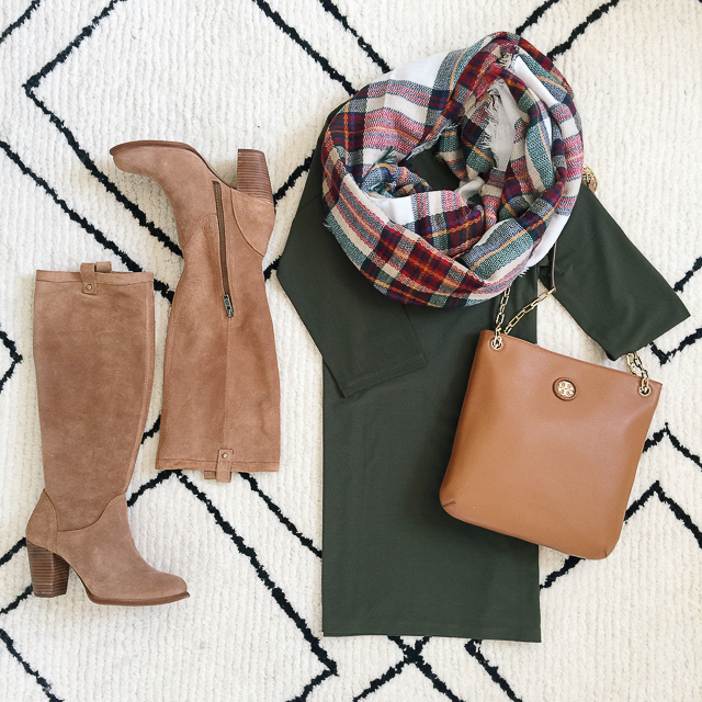how to style a dress in the fall - all of these items are from the Nordstrom Anniversary Sale!