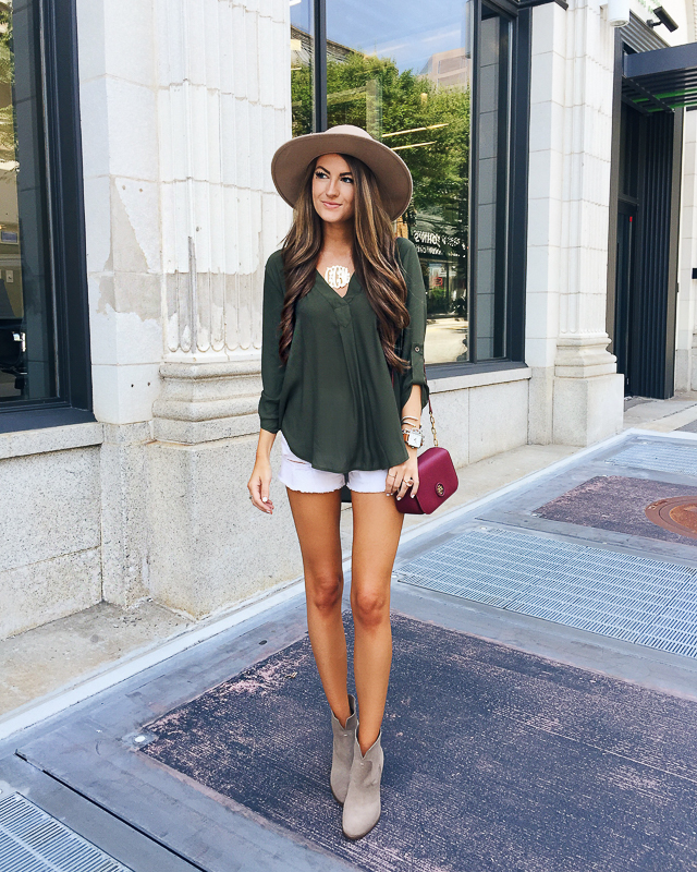 Lush crepe blouse - wear now or later in the fall