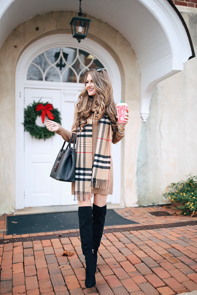 c457b73721a ... czech camel sweater dress i have it another color too burberry scarf  similar over the knee