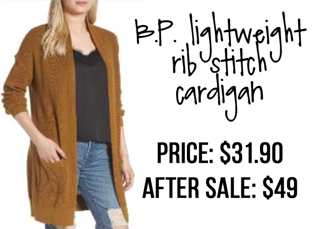 BP lightweight rib stitch cardigan Nordstrom Anniversary Sale