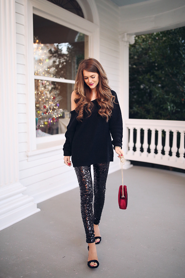 Black Trousers Gold Shoes Christmas Outfit